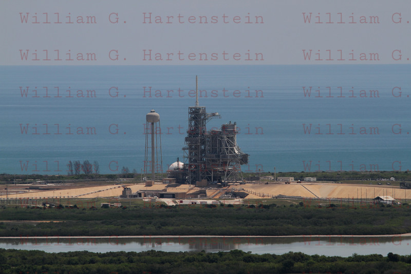 Pad 39A afterthe STS-134 launch taken from the Roof of the VAB