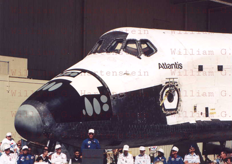 Space Shuttle Atlantis Rollout at Palmdale, Calif. March 6, 1985.