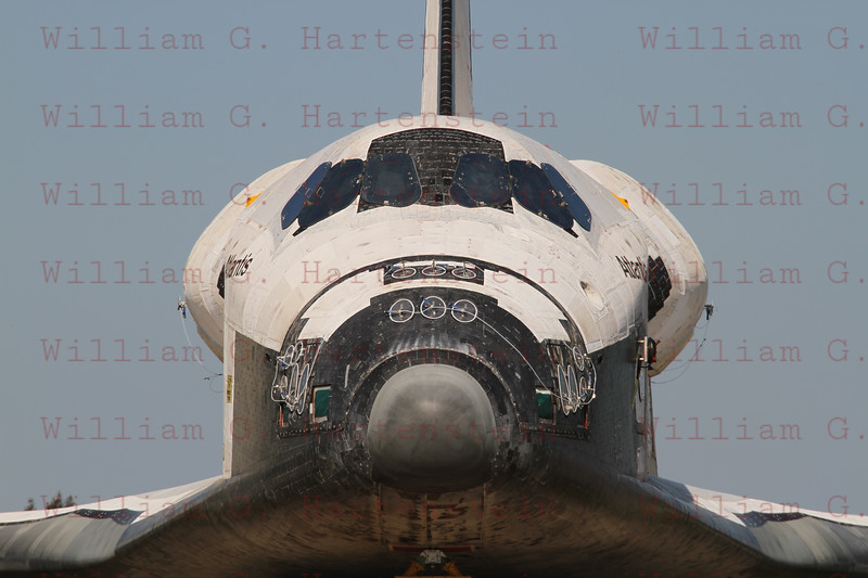 STS-135 Atlantis during rolls out from OPF to VAB for the last time May 17, 201