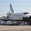 STS-135 Atlantis on Runway 15 after final Shuttle landing. KSC 15 July 21, 2011 @ 5:57am edt.