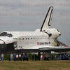 STS-135 Atlantis during towback after its final landing. July 21, 2011