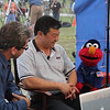 STS-135 Spaceflightnow.com interview with Elmo. July 8, 2011. Miles O'Brien and Leroy Chaio with Elmo.