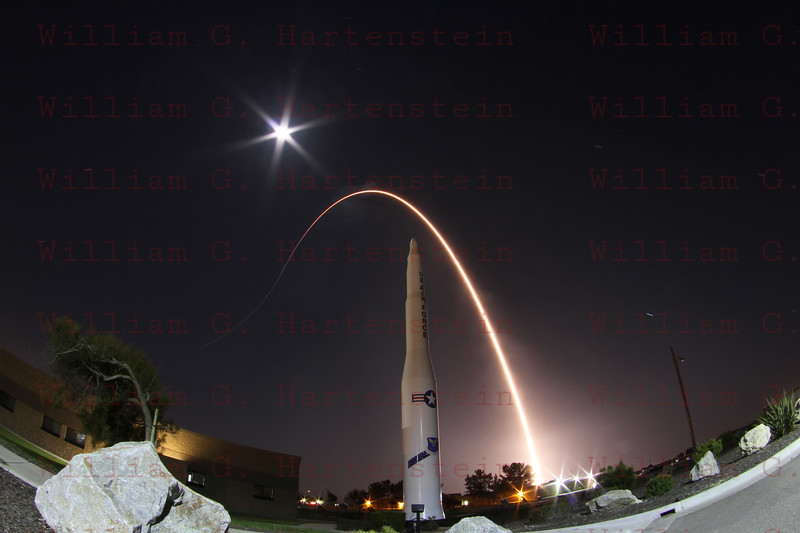 Vandenberg Air Force Base, Calif., (April 14, 2011) – A United Launch Alliance Atlas V rocket carrying a payload for the National Reconnaissance Office (NRO) lifted off from Space Launch Complex-3 here at 9:24 p.m. PDT today. Designated NROL-34, the mission is in support of national defense.<br /> <br /> Today marked the 25th Atlas V rocket launch in program history. The first Atlas V launched in August 2002. Since then, Atlas V has launched a variety of payloads for the military, NASA, and commercial customers, all successfully.