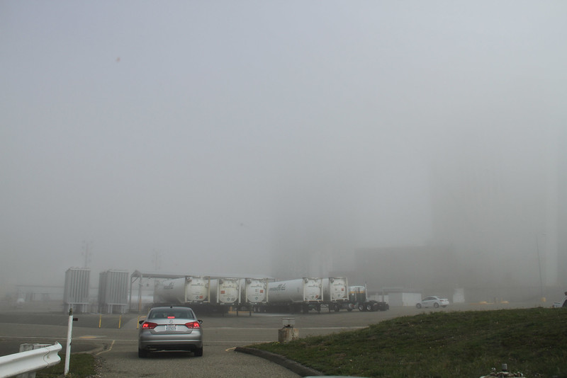 Sometimes within a matter of minutes the fog and low clouds can make setting up cameras impossible!