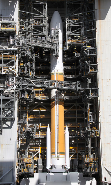 Photo of SLC-6 during remote camera setup for the ULA Delta 4/NROL-25 from Space Launch Complex 6 at Vandenberg AFB. April 2, 2012