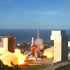 VANDENBERG AIR FORCE BASE, Calif. - The first West Coast Delta IV Heavy<br /> Launch Vehicle was launched from Space Launch Complex-6 here Jan. 20, 2011 at 1:10<br /> p.m. PST. <br /> <br /> The largest rocket ever to launch from the West Coast of the United States<br /> carried a national security payload for the National Reconnaissance Office.