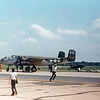 """Date:  unknown - Location:  KNHK<br /> Dep/Arv/Enr:  n/a - RW/Taxi/Ramp:  n/a<br /> Manufacturer:  North American Aviation <br /> Model:  B25J-1-NC - Ser/BuNo:  44-29939<br /> Markings:  """"Briefing Time""""/9D/327638<br /> Misc:"""