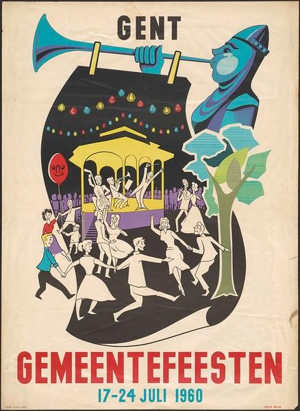 Affiche Gemeentefeest.