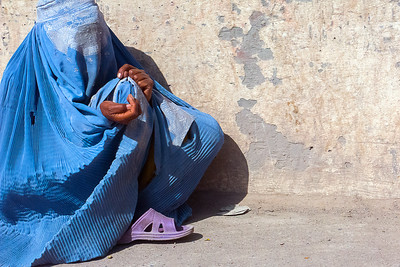 Burqa-clad Beggar