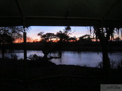 Sunrise outside my tent at Sambura National Reserve. Notice the proximity of the river.