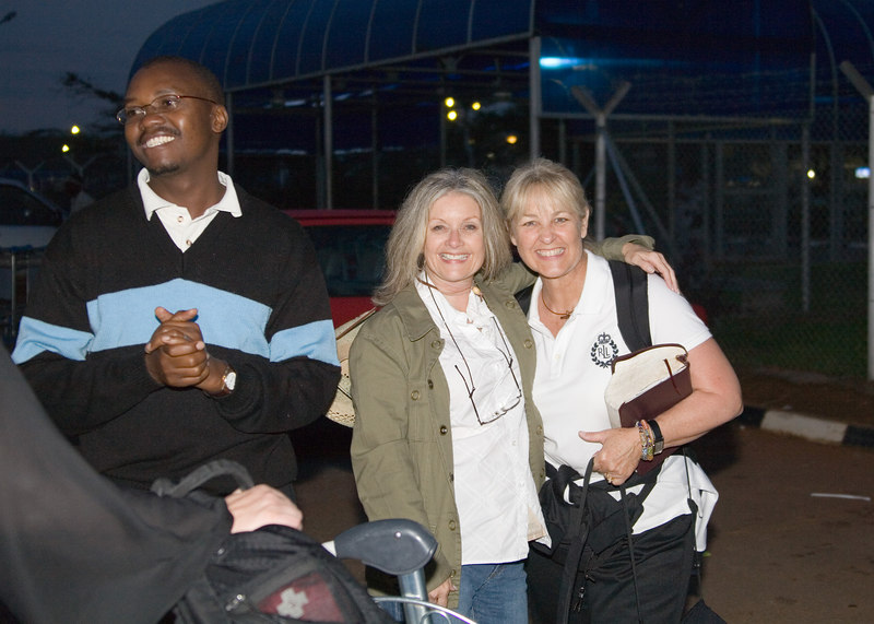 Carol & Barbara--just landed in AFRICA (for REAL)!