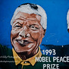 This mural honoring Mandela was on a wall across from the church were the ANC held many secret meetings to discuss the uprising against Apartheid.