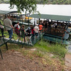 Boarding Ra-Ikane for High Tea Cruise on the Zambezi River