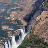 Helicopter View to Victoria Falls