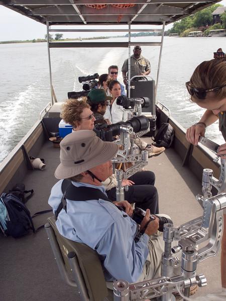 Pangolin Photo Boat ride on the Chobe River