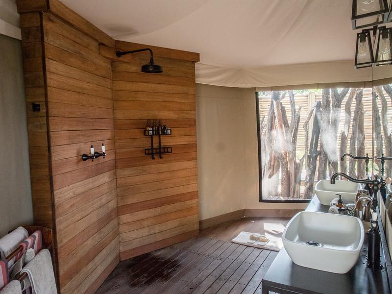 Bathroom area at Nxabega
