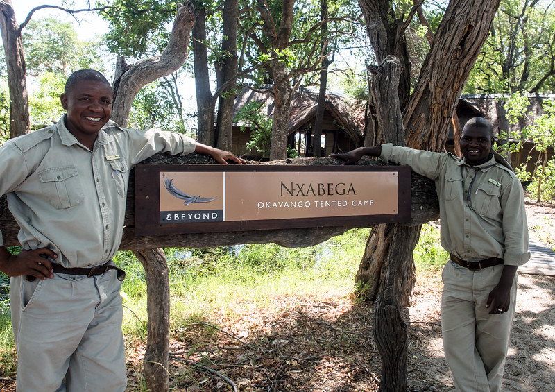 AK, Our Nxabega guide (at left)