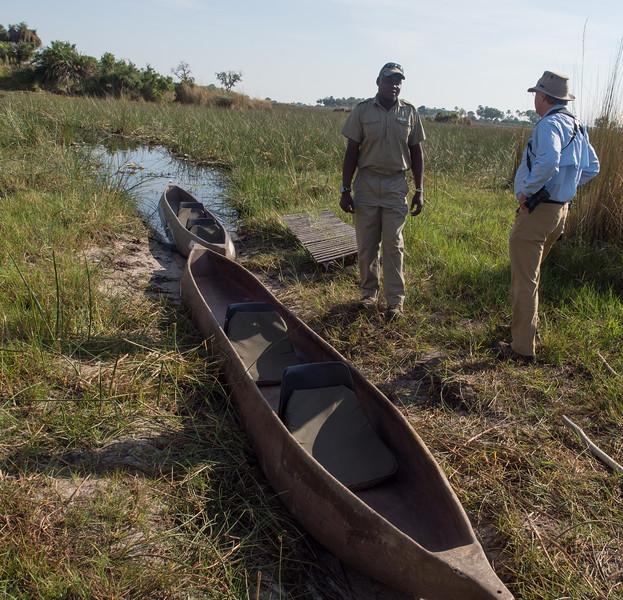 Having a makoro ride in the delta