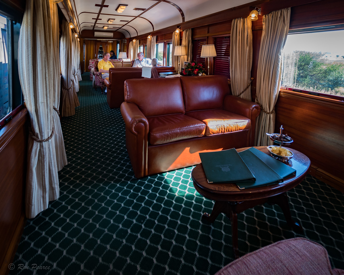 One of the lounge cars to view the country as you made way across Africa.
