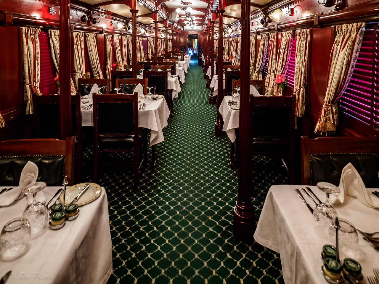 This is one of two dinning cars.  A formal, 5 course dinner (coat & tie) was served every evening.
