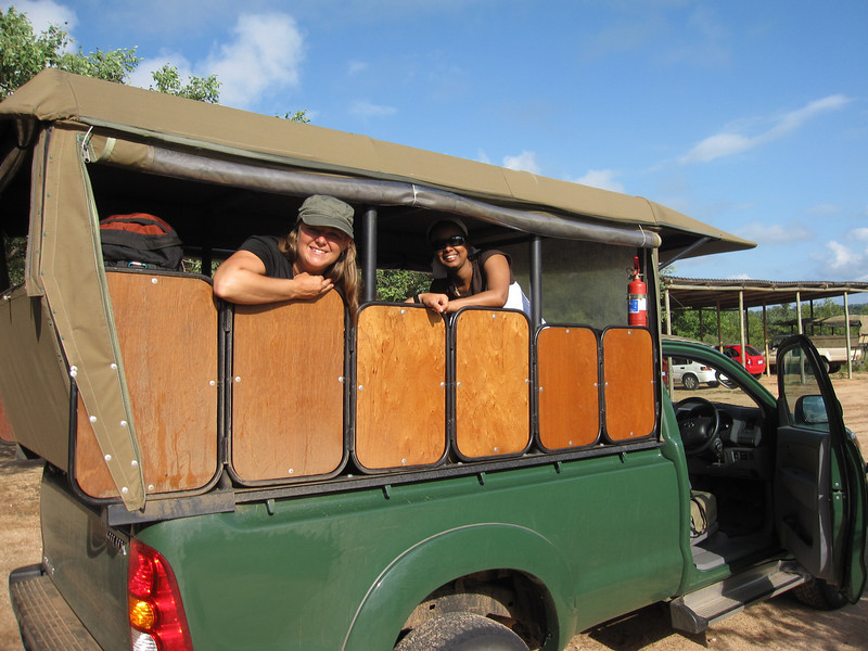 Heading out on an African safari in our open game viewing 4X4 to Kruger National Park, South Africa.