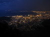 The great part was viewing Cape Town's city lights at night from atop Table Mountain after the storm passed!
