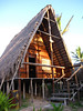 The rustic, but lush, big hut that I stayed in at Bamboozi, built upon the sand dunes along the Indian Ocean.