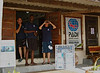 The staff of Tofo scuba scouting out the wave conditions prior to launching the dive boat. (P.Hermse)
