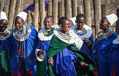 Maasai women share a moment