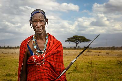 A Portrait: Maasai Tribesman in Kenya