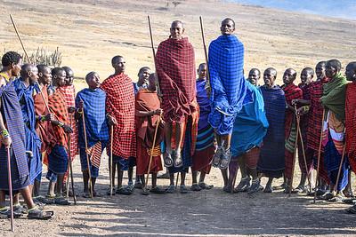 The dance of the Maasai people