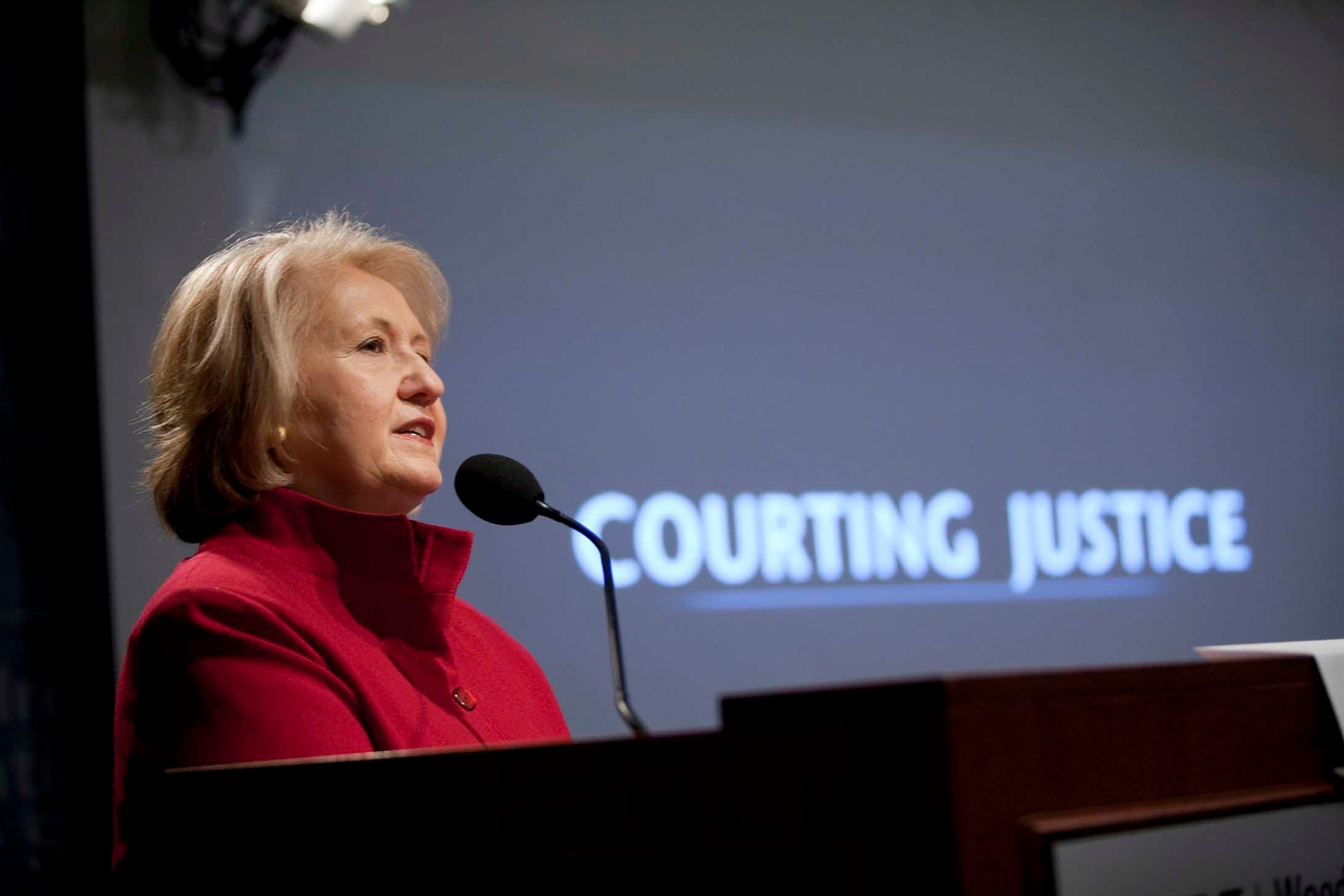Courting Justice: A Documentary Film Screening<br /> <br /> Speaker(s): Amb. Melanne Verveer, Ruth Cowan