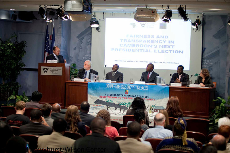 Cameroon: Planning Free & Fair National Elections<br /> <br /> Speaker(s):Paul Ghogomu, Fabien Nkot, Dr. Fonkam Azu'u, Dr. Peter Lewis