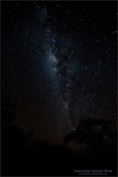 Milky-way - Tanzania August 2017<br /> Raymond Barlow Photo Tours to Tanzania Wildlife and Nature<br /> <br /> Prints - ray@raymondbarlow.com<br /> Nikon D810 ,Nikkor 200-400mm f/4G ED-IF AF-S VR<br /> 25s f/2.8 at 17.0mm iso2500