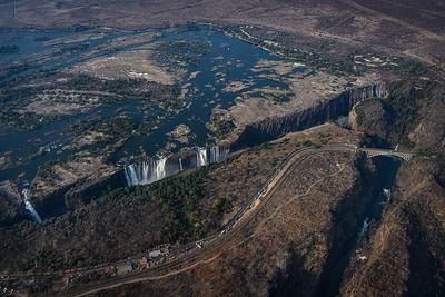 Victoria Falls aeriel view