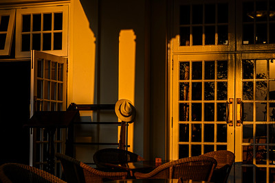 Sunrise at the Victoria Falls Hotel