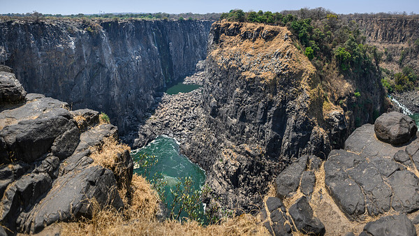 Victoria Falls looking over the cliff