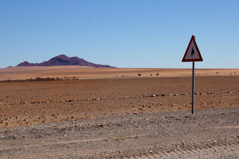 Animal Warning Road Sign - Namibia