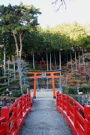 Steps to the Haraikawabenzaitensha Shinto Shrine