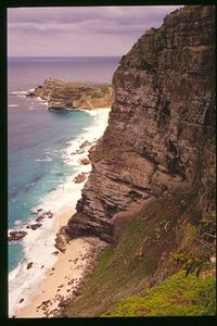 Looking back at the Cape of Good Hope from Cape Point