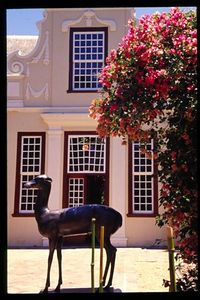 Front entrance to Groot Constantia wine estate