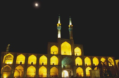 Amir Chakhmaq Complex in Yazd at night