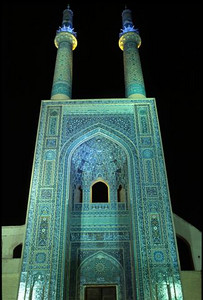 Jameh Mosque in Yazd at night