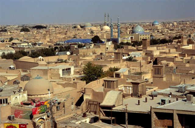 Yazd from the top of the Amir Chakhmaq Complex in Yazd