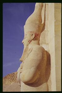 Ancient Profile, Queen Hatshepsut's Temple, Deir el Bahri