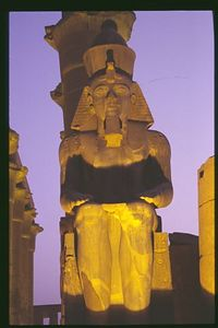 Ramses II full figure, Luxor Temple