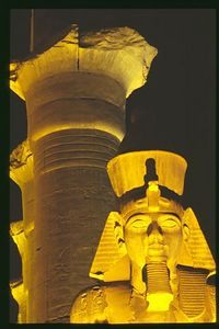 Ramses II head and column, Luxor Temple