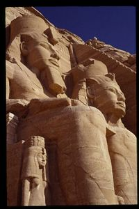Massive Figures, Abu Simbel Temple