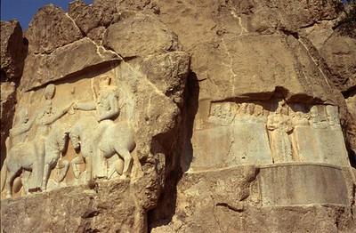Stone reliefs at Naqsh-e Rostam