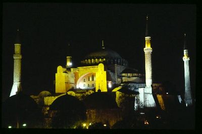 Aya Sophia Museum at night
